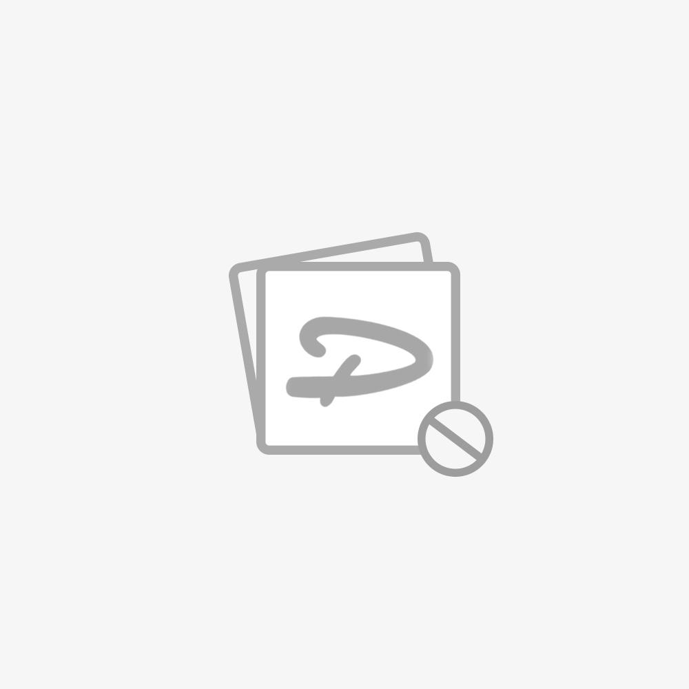 Hoekwerkbank met MDF blad + gereedschapskast blauw